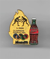 RARE PINS COCA COLA JEUX OLYMPIQUES ATLANTA 1996 N°3 LUTTE RINGEN  OLYMPISCHE DISZIPLIN 1896 /Signé TIM 1992 ACOG /33NAT - Coca-Cola