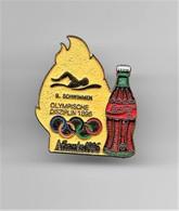 RARE PINS COCA COLA JEUX OLYMPIQUES ATLANTA 1996 N°9 NATATION  OLYMPISCHE DISZIPLIN 1896 /Signé TIM 1992 ACOG /33NAT - Coca-Cola