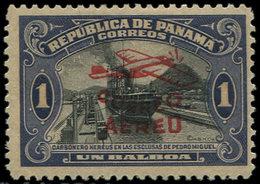 * PANAMA (REPUBLIQUE) PA 9 : 1b. Violet-noir, Surcharge Rouge, TB - Panama