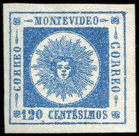 (*) URUGUAY 16 : 120c. Bleu, 4 Ex. Pour Planchage, TB - Uruguay