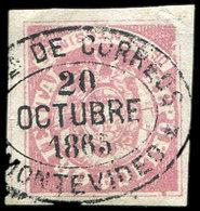 URUGUAY 18 : 6c. Rose, 3 Ex. Choisis, Obl., TB - Uruguay