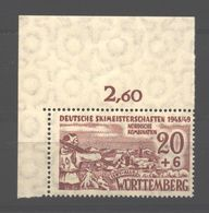 Württemberg,39y,Type II,mit OR Xx (5290) - Französische Zone