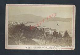 ANCIENNE PHOTO 15X9,5 DE NICE VUE PRISE DE St HÉLÈNE  COLER SUR CARTON : - Orte