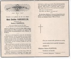 MARIA CHRISTINA VANDIKKELEN ° ZONHOVEN 1880  + 1956 / HUBERT KUPPENS - Devotion Images