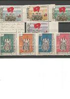 8 Timbres Royaume Laos 1961 - Laos