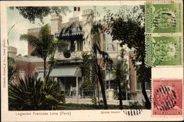 Cp Lima Peru, Legacion Francesa, Quinta Heeren, Französische Gesandtschaft - Peru