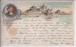 OFFICIALL SOUVENIR POSTAL - WORLD'SCOLUMBIAN EXPOSITION - 1893 !!!! - POUR LA SUISSE (ST-IMIER) - RRRRRR - Autres Thèmes