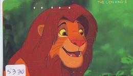 Télécarte  * DISNEY * Japon (110-157480) LION KING   (5330) * JAPAN PHONECARD * CINEMA * FILM MOVIE KINO - Disney