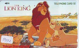 Télécarte  * DISNEY * Japon (110-158051) LION KING   (5332) * JAPAN PHONECARD * CINEMA * FILM MOVIE KINO - Disney