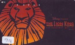 Télécarte  * DISNEY * Japon (110-016) LION KING   (5336) * JAPAN PHONECARD * CINEMA * FILM MOVIE KINO - Disney