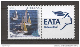 Greece 2013 Personal Stamp Sailing Tourism With Label MNH - Grèce