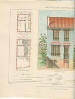 Architecture Planche Couleurs Maison Rue Saint-Quentin Nogent Sur Marne - Architecture