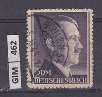GERMANIA IMPERO, 1942Hitler, 2 Dm, Usato, Dentellato 14 - Usati