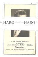 Faire-part De Décès De Mr. Jean STRAETEN ép. De M-T Gouders - AUBEL 1939 /1962 - Obituary Notices
