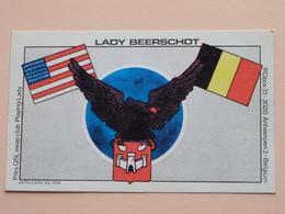 LADY BEERSCHOT ( Stamp : Playing Lady Q.S.L. Swapclub Belgium ) Anno 19?? ( Antwerpen : Zie Foto Details ) ! - Carte QSL