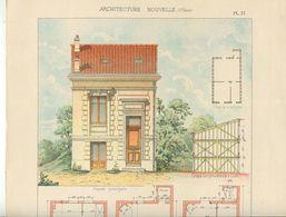 Architecture Planche Couleurs Pavillon De La Société Bordelaise Des Habitations à Bon Marché - Architecture