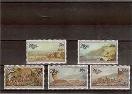 CP018 - NIUE PO200/204** De 1978 - James COOK Bicentenaire Découverte De HAWAII, By John WEBBER - Niue