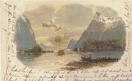 AK Sonnenschein-Postkarte - Bergsee - Publicidad