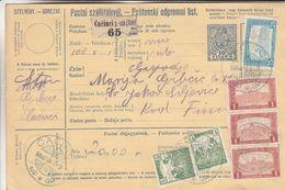 Hongrie - Bulletin De Versement De 1919 ° - Entier Postaux - Oblit Cacinci - Hungary