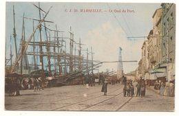 Marseille -   Quai Du  Port  -  Voiliers  3 Et 4 Mats -   50 -  CJ  - CPA° - Vecchio Porto (Vieux-Port), Saint Victor, Le Panier