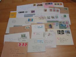 Briefe Lot  23 Moderne Belege Mit USA Europa ..Christkindel - Briefmarken