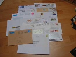 Briefe Lot  19 Moderne Belege Mit USA Europa - Briefmarken