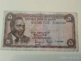 5  Schillings 1968 - Kenia