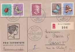 Pro Juventute 1952 : Série Sur Lettre Recommandée, Oblitérée Le 1er Jour D'émission : BERN Pro Juventute - Cote : 130.- - Lettres & Documents