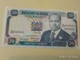 20 Schillings 1990 - Kenya