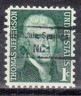 USA Precancel Vorausentwertung Preo, Locals North Carolina, Glendale Springs 848,5 - Vereinigte Staaten