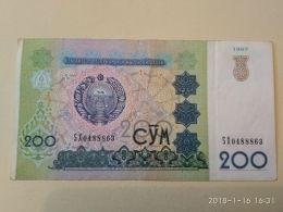 200 Sum 1997 - Uzbekistan