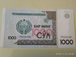 1000 Sum 2001 - Uzbekistan