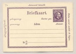 Nederlands Indië - 1874 - 5+5 Cent Willem III, Briefkaart G2a / H&G 3 - Ongebruikt - Nederlands-Indië