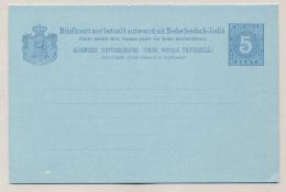 Nederlands Indië - 1892 - 5+5 Cent Cijfer Blauw, Briefkaart G11a / H&G 12 Ongebruikt - Nederlands-Indië