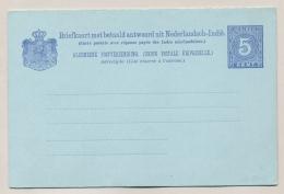 Nederlands Indië - 1897 - 5+5 Cent Cijfer Ultramarijn, Briefkaart G11b / H&G 12a - Ongebruikt - Nederlands-Indië