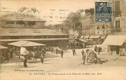 35 RENNES. La Poissonnerie Et La Place De La Halle Aux Blés 1931 Quincaillerie Gougeon - Rennes