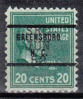 USA Precancel Vorausentwertung Preo, Bureau North Carolina, Greensboro 825-71, Dated - Vereinigte Staaten