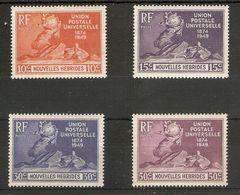 NEW HEBRIDES (NOUVELLES HEBRIDES) 1949 UPU SET SG F77/F80 UNMOUNTED MINT Cat £22 - French Legend