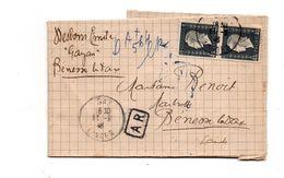 Benesse Les Dax. Dax.  Pli En AR. 1946. - Storia Postale