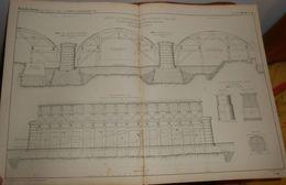 Plan De Cintres Et échafaudages Du Pont Saint-Michel à Paris. 1858 - Public Works