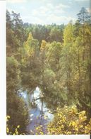 K2 Real Photo Postcard By Gailitis Latvia Liesma 1975 View Of The Tervete River From The Irsu Garden Tervete Nature Park - Latvia