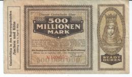 Billet Allemand 1923 :: 500 Million Mark  Port 0,80 N17a - [ 3] 1918-1933 : Weimar Republic