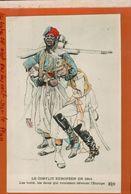 REGAMEY  LE CONFLIT EUROPEEN EN 1914   ZOUAVE  GUILLAUME II ET FRANCOIS JOSEPH   CARTE ANTI GERMANIQUE  Jan 2018 301 - Andere Illustrators
