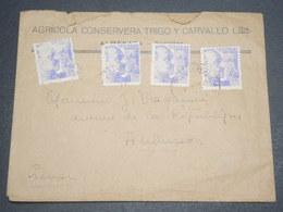 ESPAGNE - Enveloppe De Barcelone Pour La France En 1941 Avec Cachet De Censure Au Verso - L 12166 - Marques De Censures Nationalistes