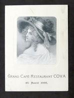 Collezionismo - Menu - Grand Cafè Restaurant Cova - 25 Aprile 1905 - Menu