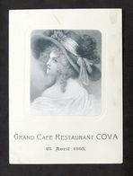Collezionismo - Menu - Grand Cafè Restaurant Cova - 25 Aprile 1905 - Menú