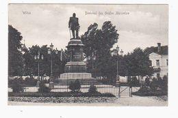 Wilna Denkmal Des Grafen Murawiew 1916 POSTCARD 2 Scans - Lithuania