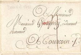 Lettre De Douai Pour Tourcoing 1791 - Manoscritti