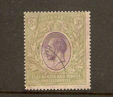EAST AFRICA And UGANDA 1912 - 1921 3R SG 55 WATERMARK MULTIPLE CROWN CA FINE USED Cat £120 - Kenya, Uganda & Tanganyika