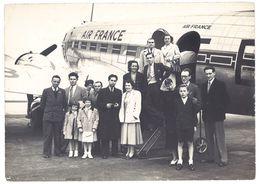 Photo 13x18 Cms  Avion Air France, Aviation, Groupe De Voyageurs, à Localiser - Aviation